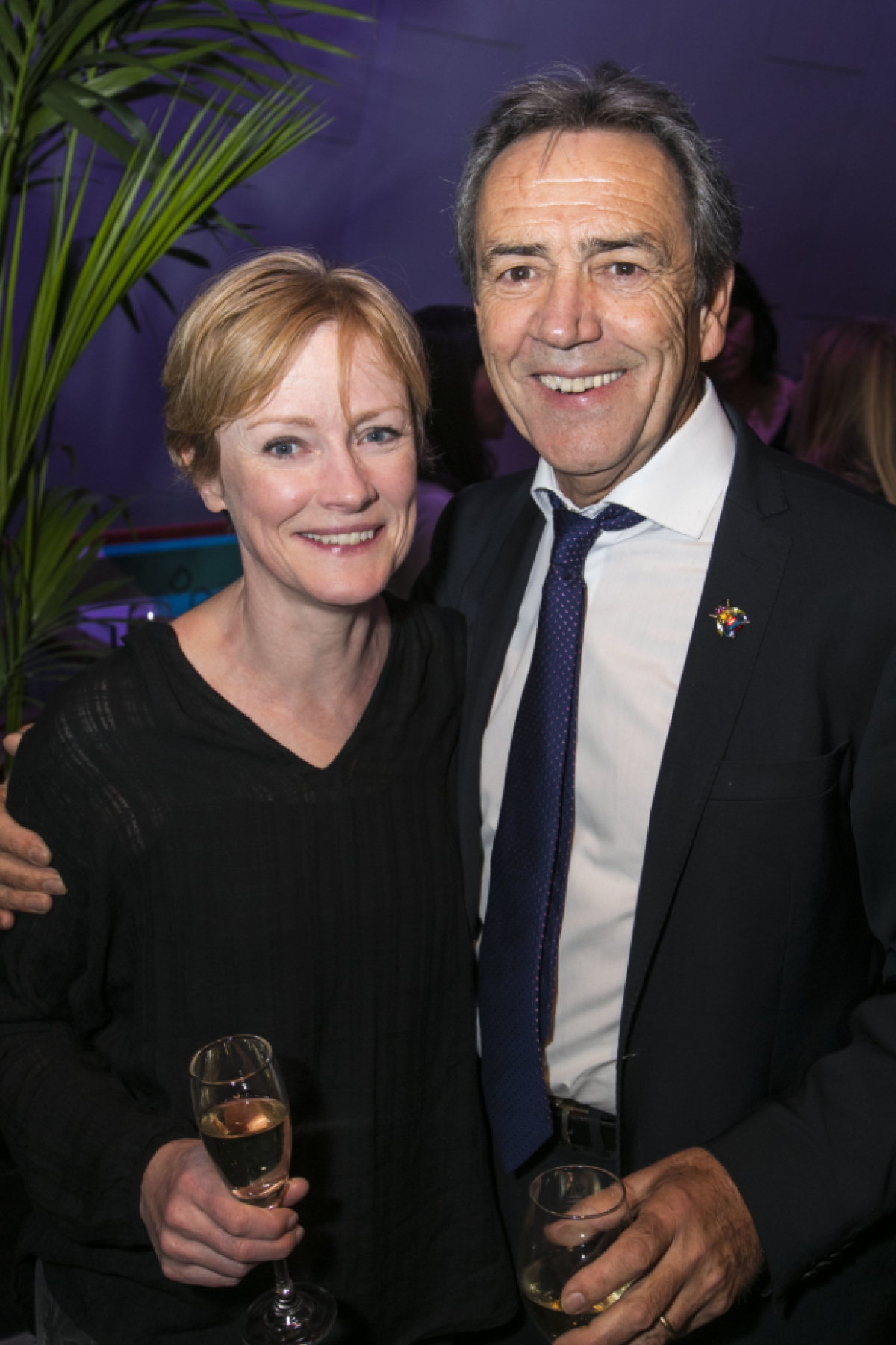 Robert Lindsay and Claire Skinner celebrate opening night ...