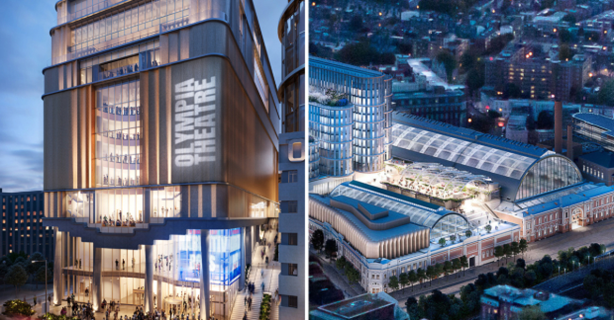 New Olympia Theatre announced –the biggest new theatre built in London since the 1970s