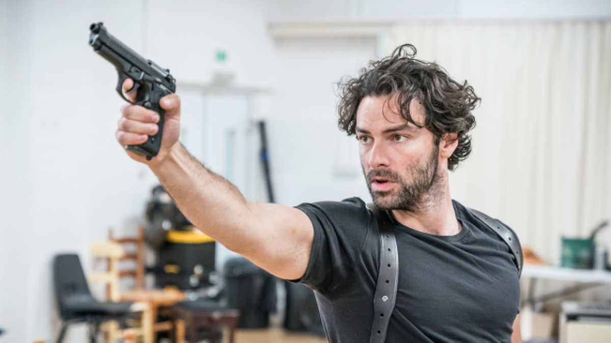 X Out Reviews >> Aidan Turner and the cast of The Lieutenant of Inishmore in rehearsals | WhatsOnStage