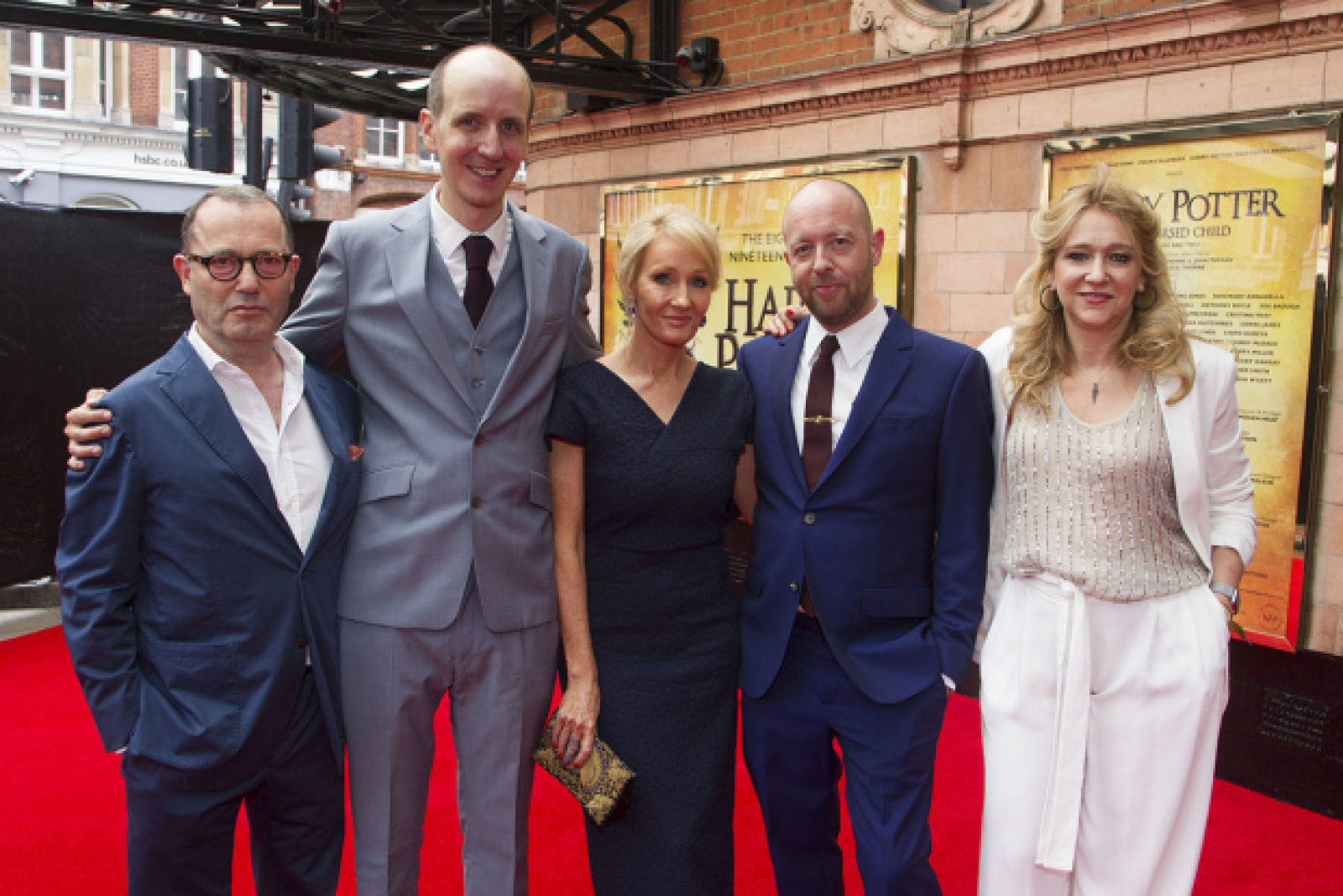 In Pictures Jk Rowling And More Arrive At Harry Potter And The