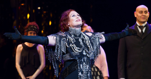 Glenn Close at the curtain call for Sunset Boulevard in London