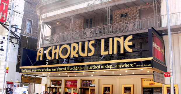 The Broadway revival marquee for A Chorus Line