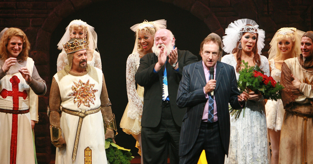 Eric Idle at the opening night of Spamalot