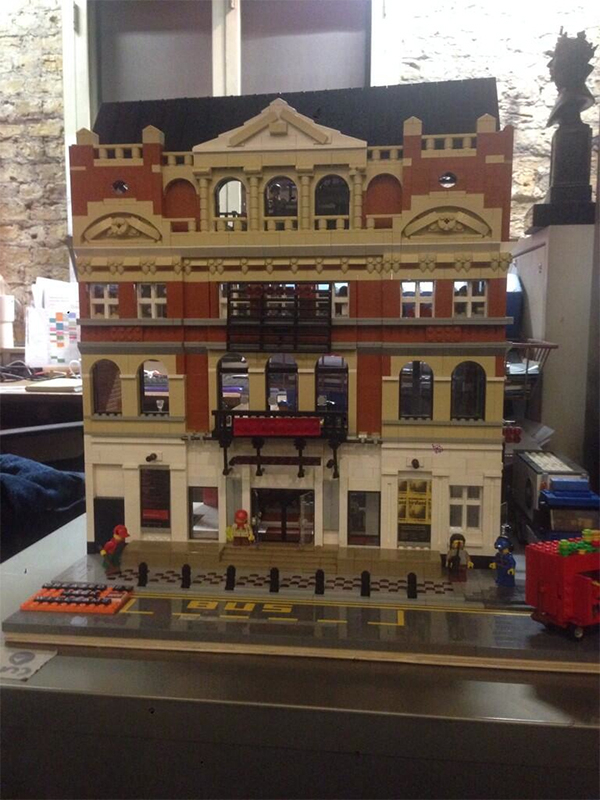 Someone made a lego model of the Royal Court Theatre and it's